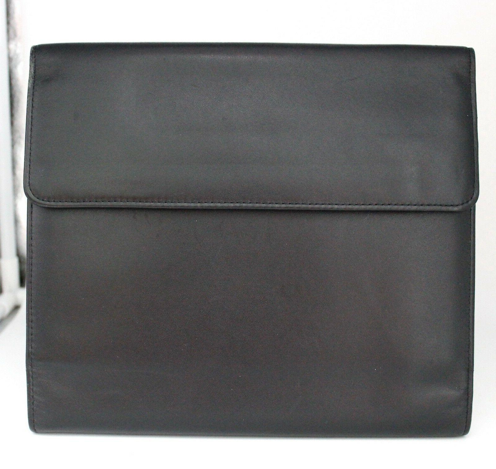 soft black leather card coupon holder