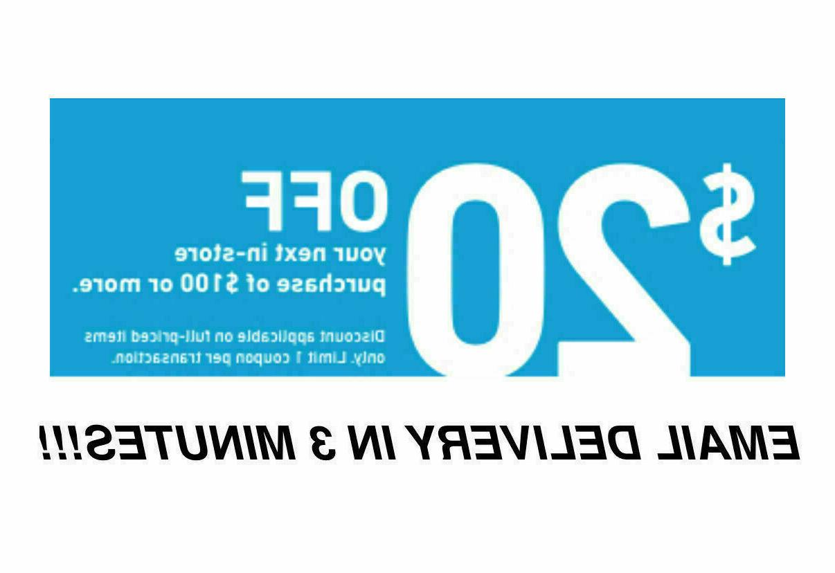 three 3x 20 off 100coupons instore only