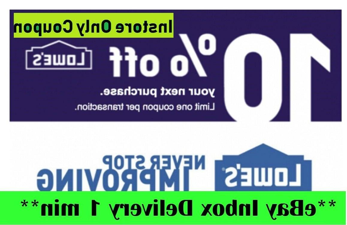 two 2x 10 percent off2coupons instore only