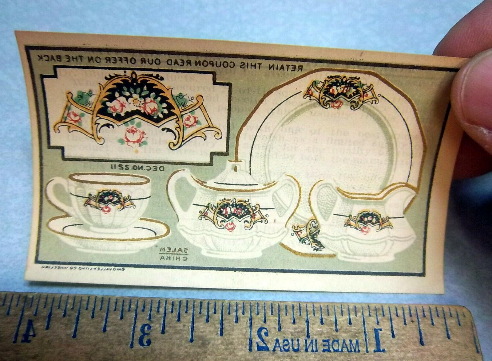 vintage 1900 china set coupon for a