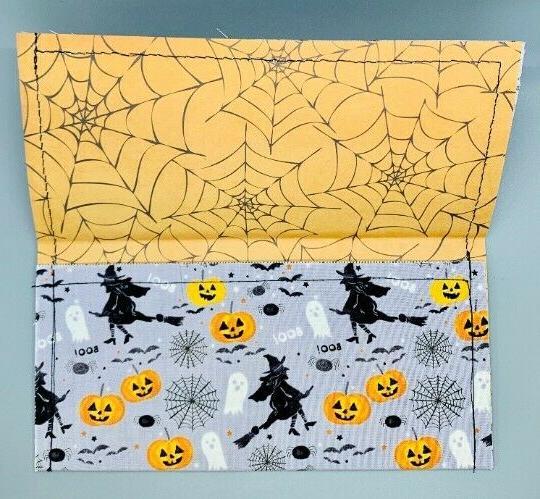 Vintage Halloween Wallet. Organizer Holder.