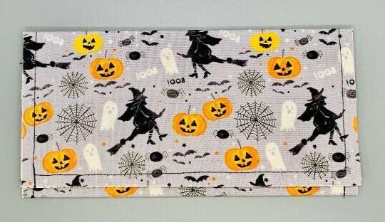 vintage halloween fabric envelope wallet organizer case