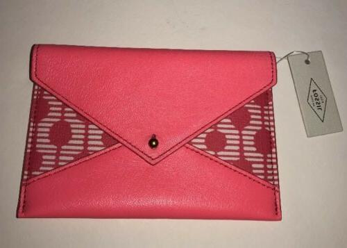 women s pink sofia envelope wallet passport