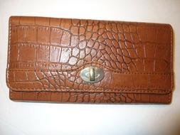 Ladies Coupon Clutch Wallet, Luggage Tan