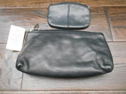 Leather MakeUp Bag Clutch,Coupon Holder&Coin Purse 2 Piece.T