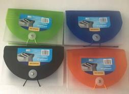 LOT OF 4 Coupon Size Expanding Files Folder with Tabs, 13 Po