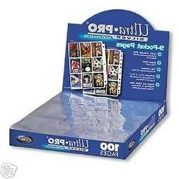 *NEW*  ULTRA PRO 9 Pocket Pages for Binder BASEBALL Cards or