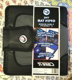 "New Case-it The Open Tab 2""- 3-Ring Velcro Binder Black T-61"