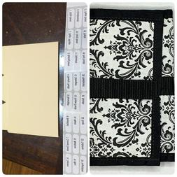 NWOT Black and White Coupon Wallet Purse Clutch Dividers Tab