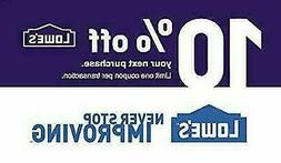 ONE  10% OFF LOWES 1Coupon - Lowe's In-storeOnly FAST Delive