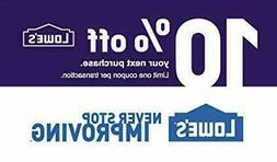 ONE  10% OFF LOWES 1Coupons - Lowe's In-storeOnly FAST Deliv