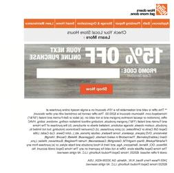 One 1x Home Depot $5 OFF $50Coupon-INSTORE ONLY -Fast-Delive