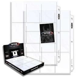 Protector Plastic Sheets 9-Pocket 100-Pack For Baseball Trad