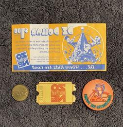 Rare Discovery Zone Lot Kids DZ Coupon Coin Token Arcade Cap