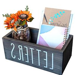 Rustic Mail Organizer Letter Box - Bill & Coupon Organizer D
