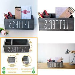 Rustic Mail Organizer With Pen Holder - Bill  Coupon Organiz