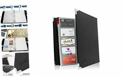 Skittz Business Card Book Coupon Leather Organizer Binder W/
