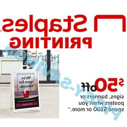 Staples Coupon Code Rewards Premier $50 off $100 Print and M