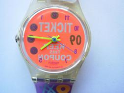 SWATCH LADY COUPON - LK129 - 1992 - NEW - NUOVO with battery