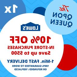 ONE 10% OFF Lowes 1Coupon  IN-STORE ONLY - 1min - NOT 20 30