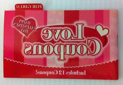 Valentine Love Coupons Booklet for GIRLs  12 coupons