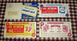 Vintage 50's Procter & Gamble Coupons Tide Detergent Joy Dis