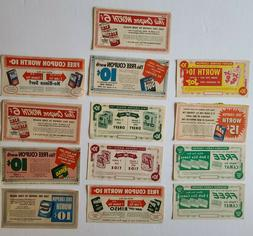 Vintage Detergent Coupons - Dreft Camay Surf Rinso Ajax Fab