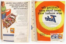 VTG Retro 1970's Tide Power Laundry Detergent 2-Sided Print