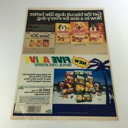 VTG Retro 1986 Meaty Bone Dog Biscuits & Five Alive Beverage