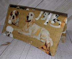 Wallet Cash Cover Keeper Document Coupon Organizer Dog Breed