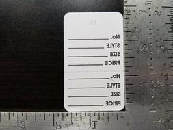 White Garment Tags Perforated 2 Part Unstrung Merchandise Pr